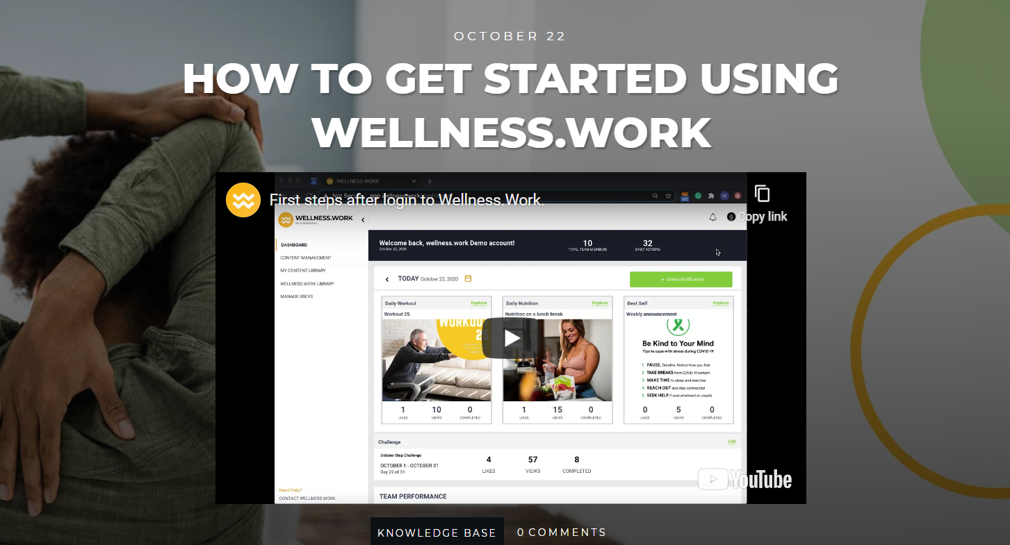 manage employees' wellbeing remotely