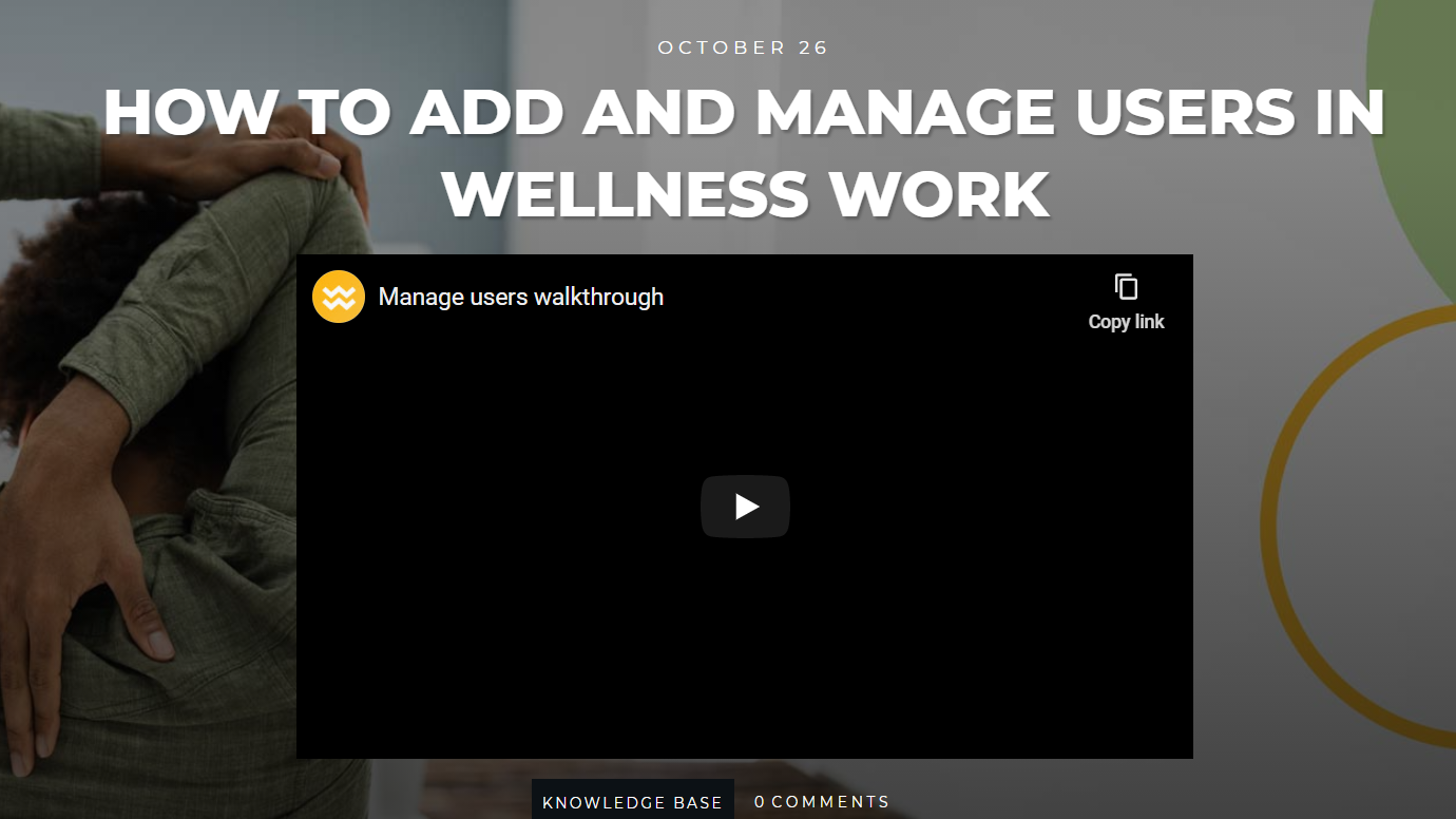 how to add and manage users in wellness work software